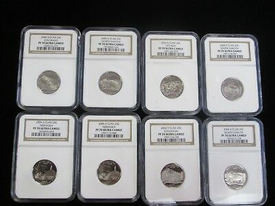 Lot of (8) 2006-S 25C (Proof) PF 70 ULTRA CAMEO NICE COINS NO RESERVE