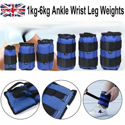 Leg Ankle Weights Adjust Leg Wrist Strap Running Training Fitness Gym Straps 6KG