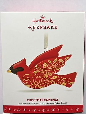 Hallmark 2016 Christmas Cardinal Porcelain Red And Gold Bird Ornament