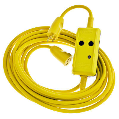 Hubbell GFP100C15WM Portable GFCI Cordset,15 amp,120V, 100'