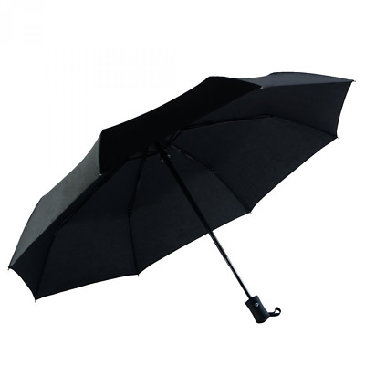 Automatic Compact Travel Umbrella, Waterproof&Windproof, Unbreakable Black