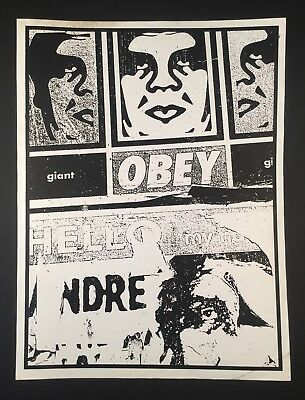 OBEY GIANT Shepard Fairey TWO SIDED RARE 2000 Proof ART Screen Print Poster