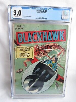 Blackhawk #26 August 1949 Quality Reed Crandall Bill Ward Comic Book CGC 3.0