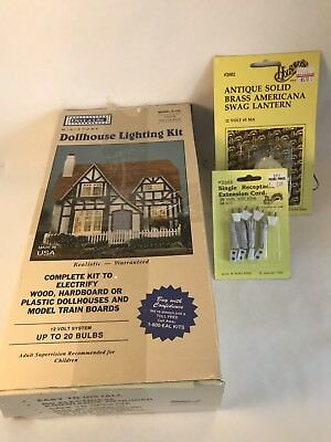 ELECT-A-LITE Doll House Lighting Kit MODEL E-120 With Housework's Brass Lamp