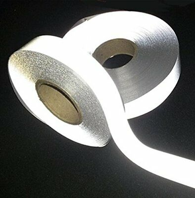 5M Florescent Reflective Strip Safety Tape Warning Ribbon Sewing On To Clothes