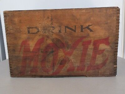 Vintage Used Drink Moxie Wood Beverage Advertising Crate/shipping Box