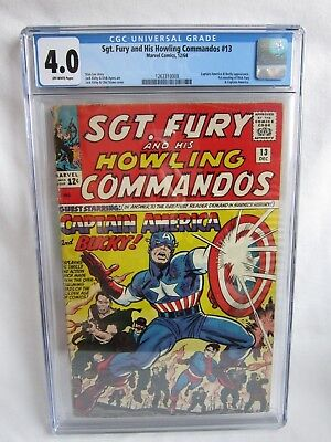 64 Sgt. Fury and His Howling Commandos Captain America Bucky Comic Book CGC 4.0