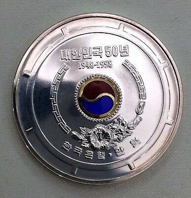 KOREA 10000 WON 1998 SILVER, 50th Anniversary - Republic of Korea