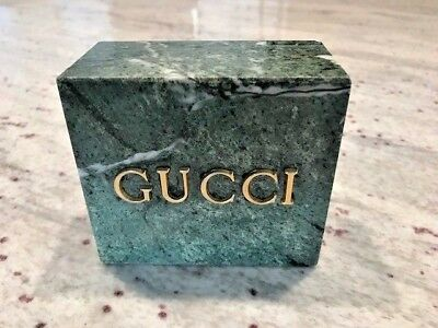 Vintage Gucci Green Marble Store Display Paperweight