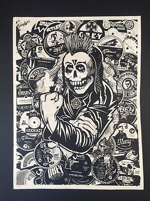 OBEY GIANT Shepard Fairey Psycho Posse 2007 Proof ART Screen Print Poster