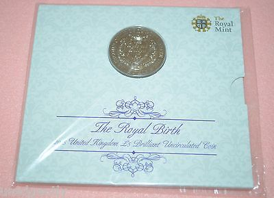 United kingdom Uncirculated £5 coins Royal arrival William Kates royality birth