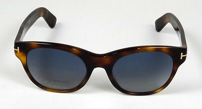 14eab1d36f2 Authentic Tom Ford Alley Havana Lens Blue Gradient Oval Sunglasses Tf532 53W