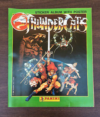 Thundercats Sticker Album - Panini - with some stickers and poster