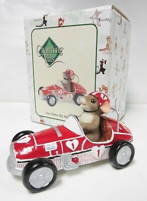 """Charming Tails 84/145 """"You Make My heart Race"""" RETIRED Brand New, MINT in Box!"""