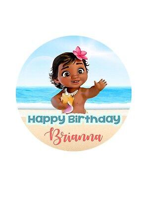 Birthday Stickers Labels Personalized Party Favors Lollipops Etc Baby Moana