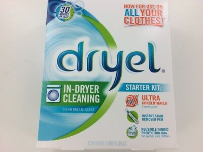 Dryel In-Dryer Cleaning Starter Kit, Breezy Clean Scent  Convenient Dry Cleaning