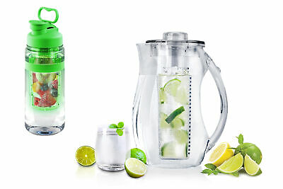 Tritan Fruit Infuser Water Bottle & Fruit Infuser Water Pitcher
