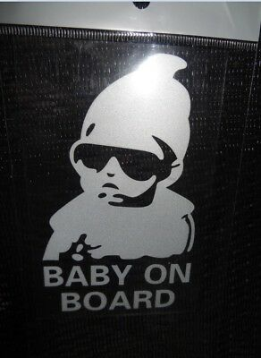 Baby on Board Sticker Decal Safety Caution Sign for Car Windows 1 pc