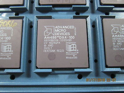 AMD 486 DX4 CPU with Write Back Cache A80486DX40100SV8B Tested and Guaranteed