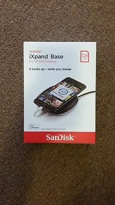 SEALED!! SanDisk SDIB20N iXpand Base 128GB For iPhone Backup Fast Charge NEW