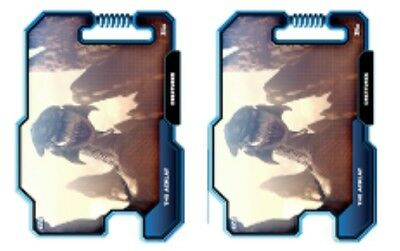 2x THE ACKLAY-BLUE-DATABASE OF VILLAINY-WAVE 4-TOPPS STAR WARS CARD TRADER