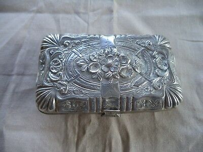 Vintage Silver French? Tobacco / Sewing Box Repousse