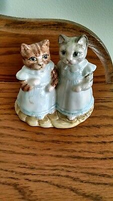 Vintage Royal Albert Mittens and Moppet Figurine 1989
