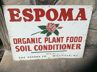 Vintage Agriculture Metal Advertising Sign  Espoma