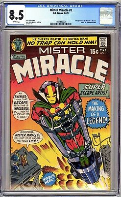 MISTER MIRACLE #1 - CGC 8.5 WHITE VF 1st MR MIRACLE & OBERON