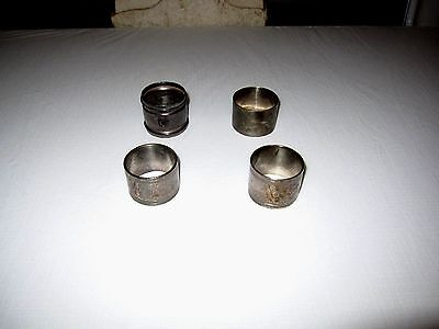 4 Assorted Vintage Antique Silver Plate Napkin Rings DIFFERENT TYPES LOT#4