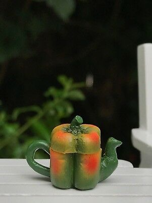 Miniature Dollhouse FAIRY GARDEN Accessories Green Bell Pepper Vegetable Teapot