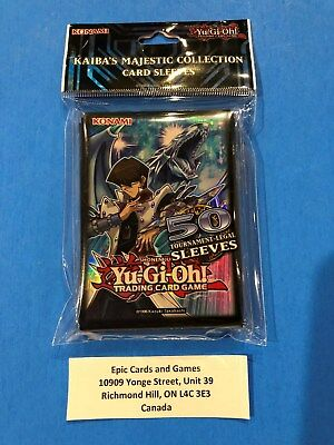 Yu-Gi-Oh ( KAIBA'S MAJESTIC Collection ) 50 Card Sleeves Official Konami Product