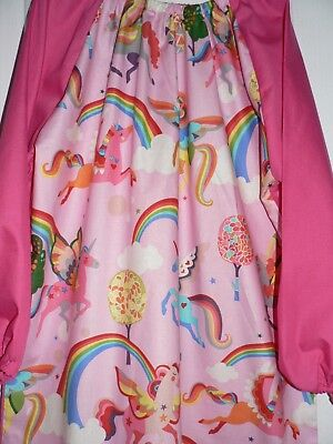 Handmade Kids Art Smocks Unicorn  Print