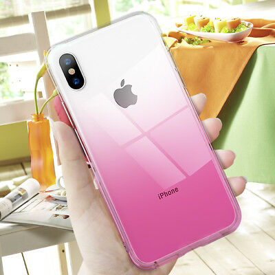 Shockproof Gradient Ombre Soft TPU Case Cover for iPhone X XS Max XR 6s 7 8 Plus