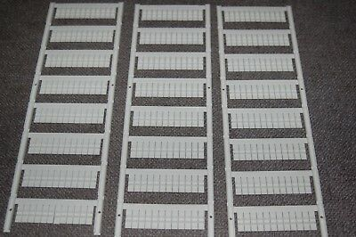 Terminal marker Card 15 x 5 mm Newark Part # 10B6518 - 3 cards (288pcs)