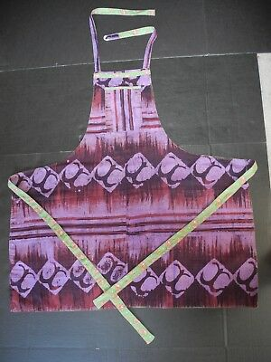 Hand Sewn Apron:Reversible:Cotton Fabric from Ghana:One-size-fits-all/Adjustable