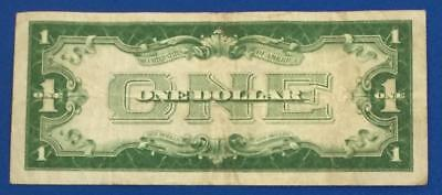 "1934 $1 Blue ""FUNNY BACK"" SILVER Certificate FINE X348 Old US Currency"