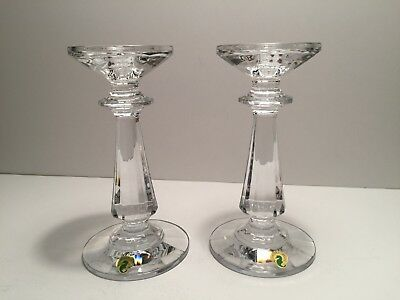 "Waterford Illuminology 8"" Candle Holder Pair MIB"