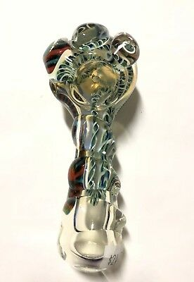 Collectible Twist TOBACCO Smoking Pipe Herb bowl Glass Hand Pipes