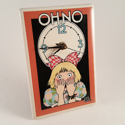 Mary Engelbreit Oh No! Ceramic Tile Clock for Wall or Shelf - FREE SHIPPING!