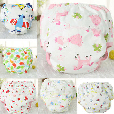 Baby Boys Girls Waterproof Training Pants Washable Reusable Cotton  Nappy Diaper