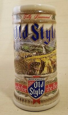 """Old Style Limited Edition 1988 """"Reach for the Best"""" Beer Stein Mug"""
