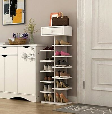 Drawer Shoe Rack Stackable Adjustable Cabinet Storage Organizer With Cabinet
