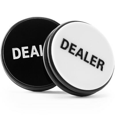 Huge 2 Sided Poker Dealer Button Hockey Puck NEW 3 Inch