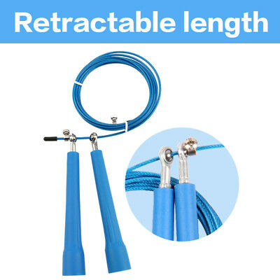 Blue 3M Steel Wire Speed Skipping Adjustable Jump Rope Crossfit Fitness Exercise