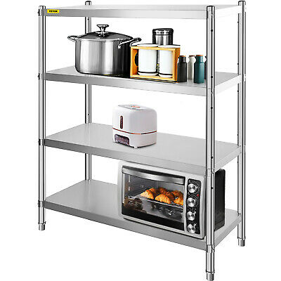 Stainless Steel  Racking Garage Shelving Warehouse 4 Tier Storage 155x120x48cm