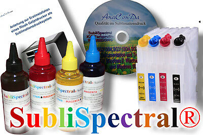 400ml SubliSpectral Sublimationstinte f. SG2100 SG3110 SG7100 + CISS + Anleitung