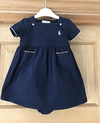RALPH LAUREN *9m BABY GIRLS DESIGNER SUMMER DRESS SET OUTFIT AGE 6-9 MONTHS