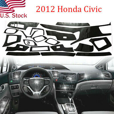 Glossy 5D Carbon Fiber Pattern Car Interior DIY Decal Trim for 2012 Honda Civic