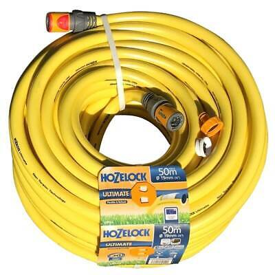 Hozelock Ultimate Anti-Kink Knitted lightweight YELLOW Garden Hose 19mm x 50m 13